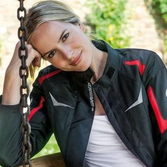 Chaqueta Textil de Moto para Mujer con Forro Cynix y Membrana Zliner Curve Lady roja