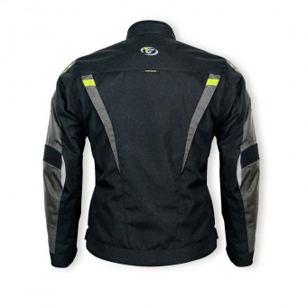 Motorbike Jacket Waterproof and Breathable with Cordura Hacker Back
