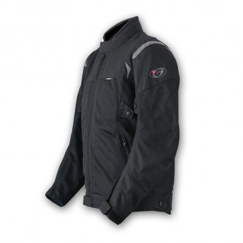 Motorbike Summer Jacket with Mesh Tornado Pro Black Side