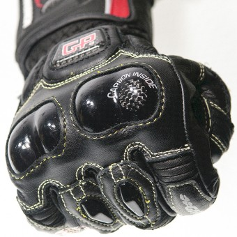 Motorbike Racing Gloves with Kanguroo and Kevlar Gladius Pro Knuckle