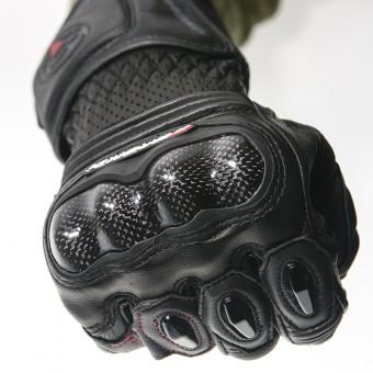 Guantes de Moto Racing con Carbono y Kevlar Galaxy Protector Nudillos