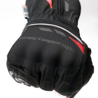 Guanti da Moto per l´Inverno con Primaloft Safety Rosso Nocche
