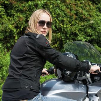 Giacca da Moto per la Donna d´Estate Ventilata Tornado Pro Nera Modella
