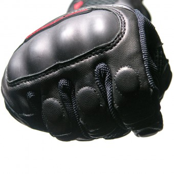 Motorbike Gloves for Summer with Mesh Defence Pro Capacitive Knuckles