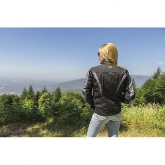 Chaqueta de Moto para Mujer Impermeable con Cynix y membrana Zliner Hacker Retro