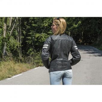 Jaqueta de Moto de Pell Vintage per a la Dona Moka Racer