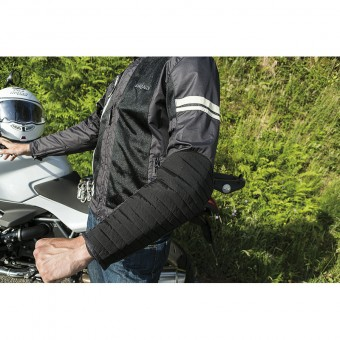 Motorcycle Summer Jacket Internazionale with Accordion on Sleeves