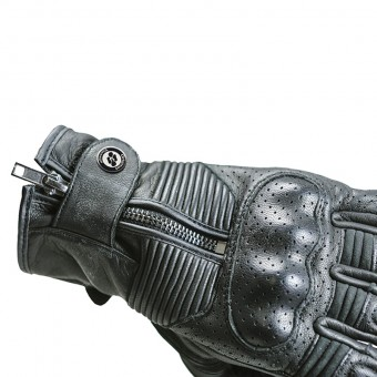 Motorcycle Retro Gloves for Summer Smoke Cuff