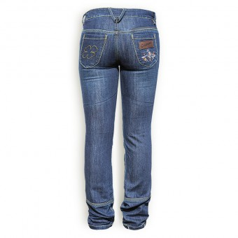 Motorcycle Denim for Women with Kevlar West Coast Lady Back