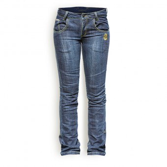 Pantalones de Moto Tejanos para Mujer con Kevlar West Coast Lady