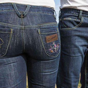 Pantalones de Moto Tejanos para Mujer con Kevlar y D3O West Coast Lady