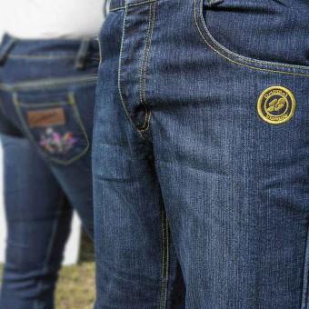Jeans da Moto con Kevlar e Protettori D30 West Coast Vintage