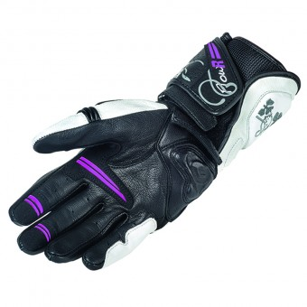 Motorcycle Sport Gloves for Women Garibaldi Flow-R White