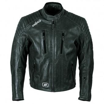 Chaqueta de Moto de Piel Vintage Garibaldi Bullrider Negra